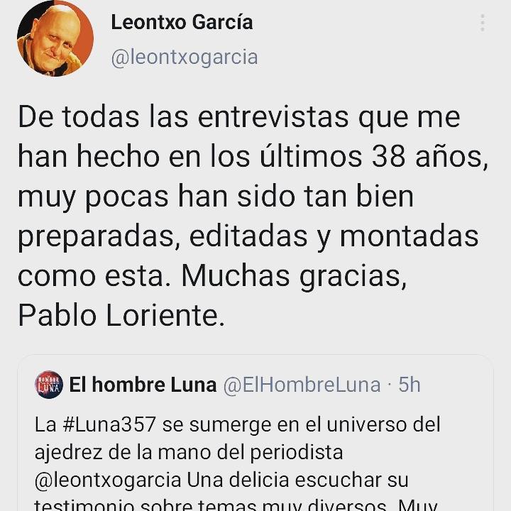 Leontxo García - tweet